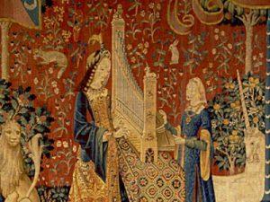 La Dame à la licorne (L'Ouïe), tapisserie de la fin du XVe siècle © Musée de Cluny