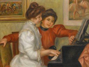 Yvonne et Christine Lerolle au piano, Auguste Renoir, 1897 © Musée de l'Orangerie