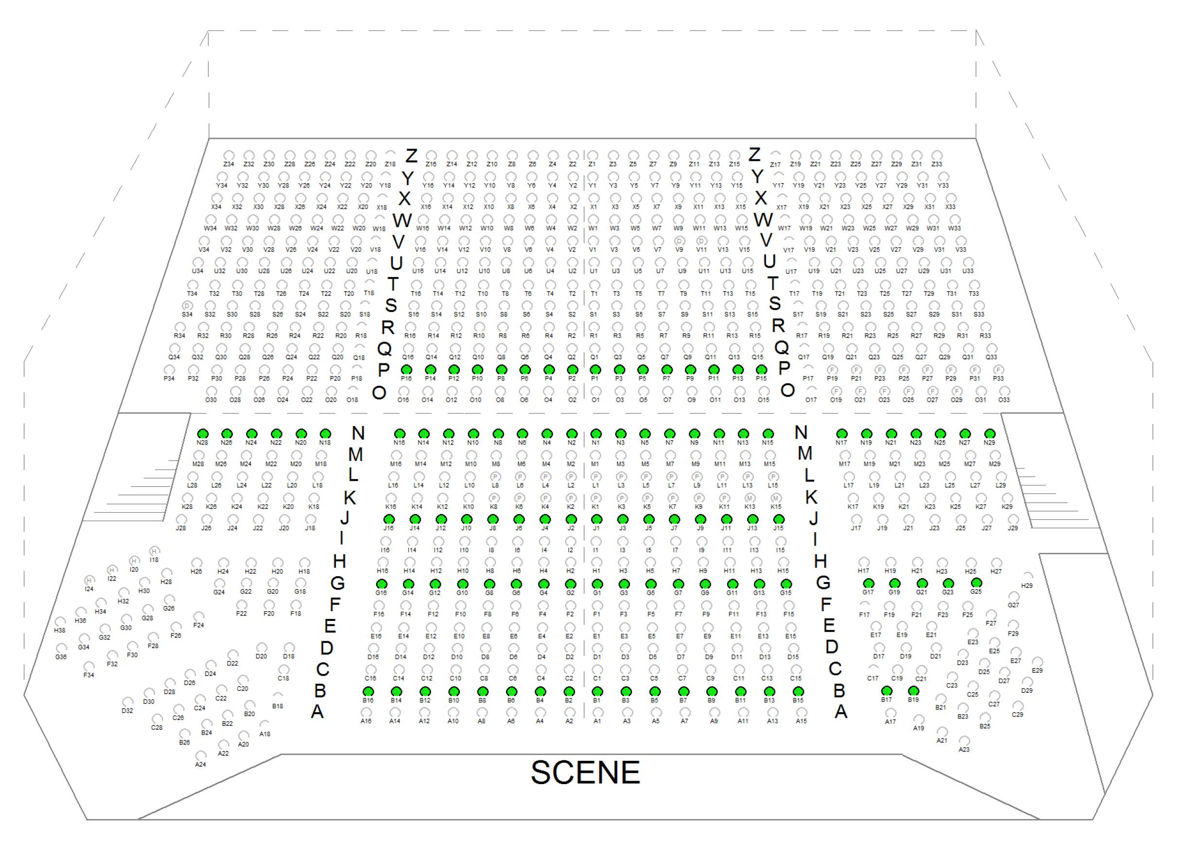 Plan de salle du théâtre du Vésinet