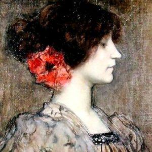 Portrait présumé de Colette attribué à Ferdinand Humbert, 1896